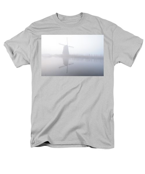 Windmill Reflection Men's T-Shirt  (Regular Fit) by Phyllis Peterson