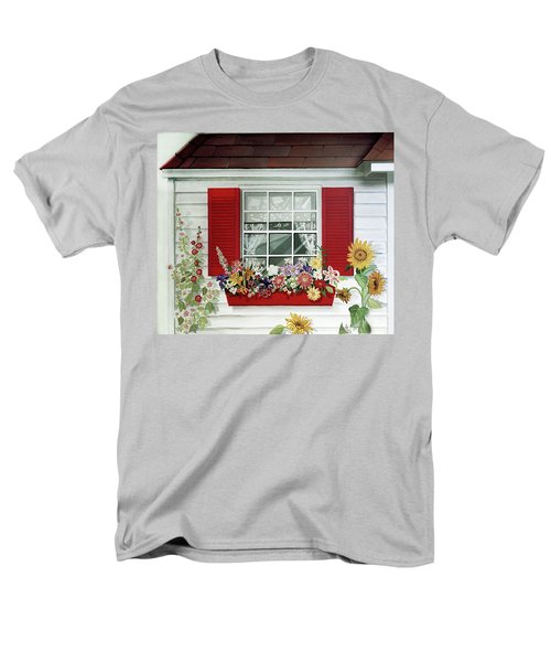 Windowbox With Cat Men's T-Shirt  (Regular Fit) by Bonnie Siracusa