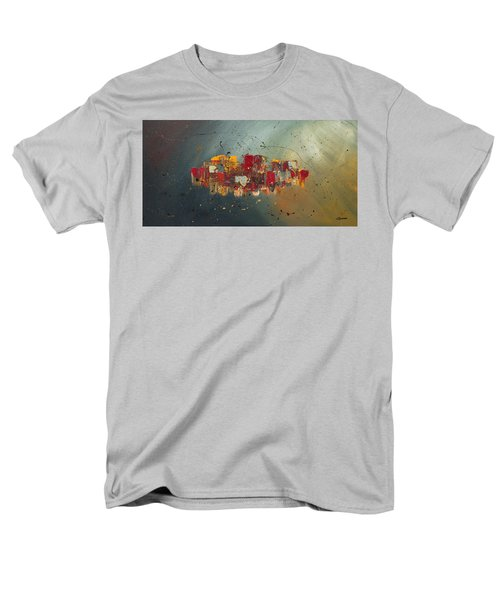 Men's T-Shirt  (Regular Fit) featuring the painting Winds Of Prosperity by Carmen Guedez