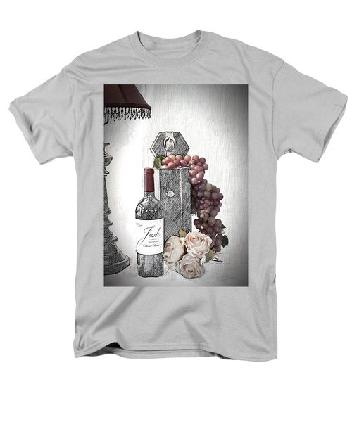 Men's T-Shirt  (Regular Fit) featuring the photograph Wine Tasting Evening by Sherry Hallemeier