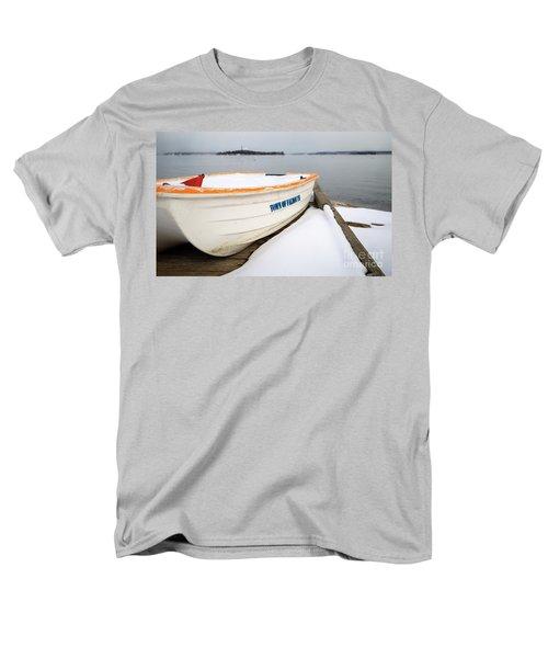 Men's T-Shirt  (Regular Fit) featuring the photograph Winter, Falmouth, Maine  -18674 by John Bald