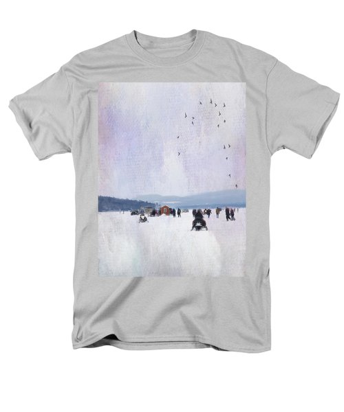 Winter Fun On The Lake Men's T-Shirt  (Regular Fit) by Betty Pauwels