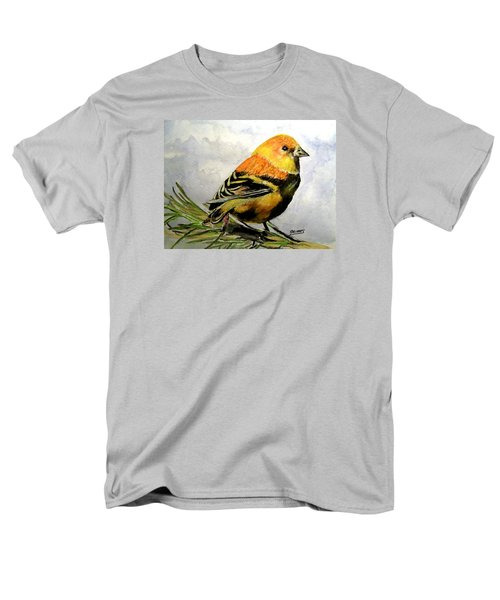 Winter Plumage On Golden Finche Men's T-Shirt  (Regular Fit) by Carol Grimes