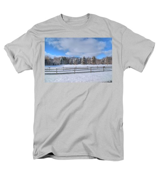 Men's T-Shirt  (Regular Fit) featuring the photograph Winter Scenery 14589 by Guy Whiteley