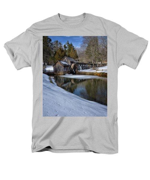 Winter Snow At Mabry Mill Men's T-Shirt  (Regular Fit) by Steve Hurt