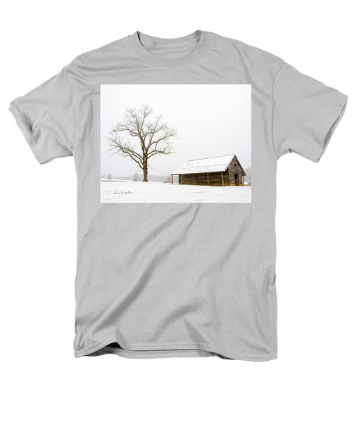 Men's T-Shirt  (Regular Fit) featuring the photograph Winter Storm On The Farm by George Randy Bass