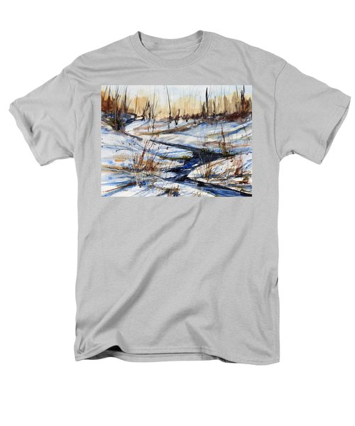 Winter Stream Men's T-Shirt  (Regular Fit) by Judith Levins