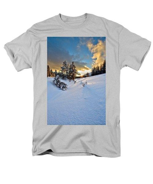 Winter Sunset Men's T-Shirt  (Regular Fit) by David Andersen