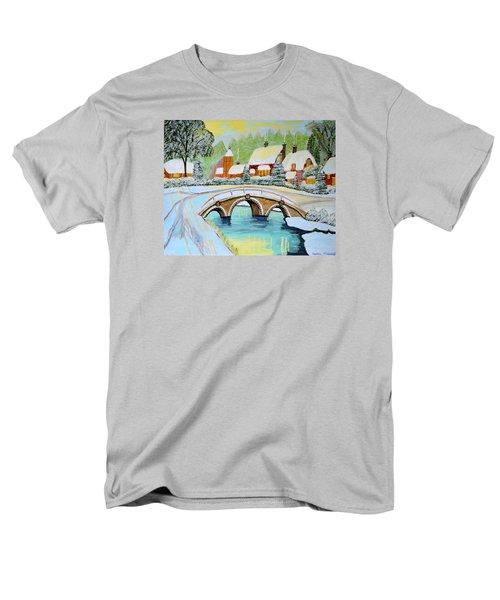 Winter Village Men's T-Shirt  (Regular Fit)