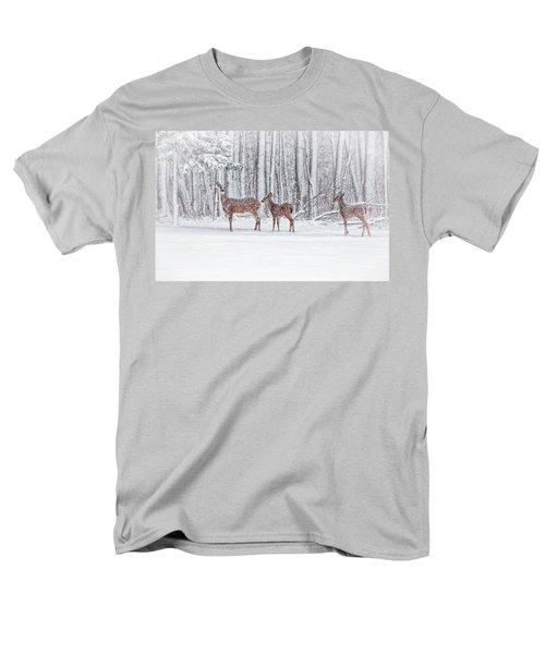 Winter Visits Men's T-Shirt  (Regular Fit) by Karol Livote