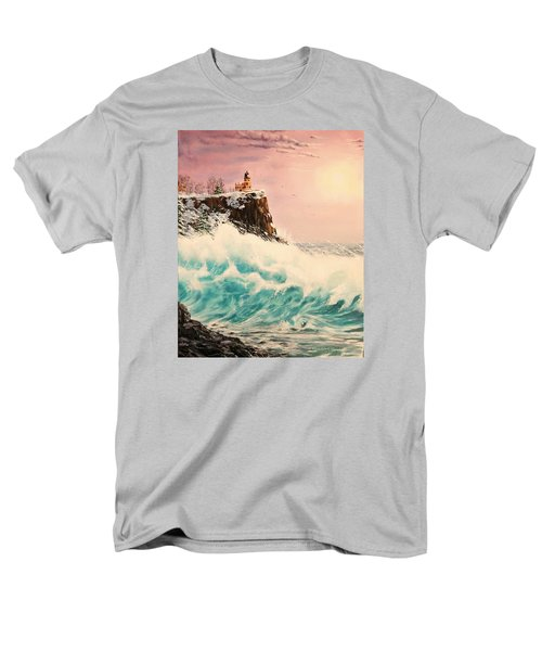 Wintery Northern Lighthouse  Men's T-Shirt  (Regular Fit) by Ruanna Sion Shadd a'Dann'l Yoder