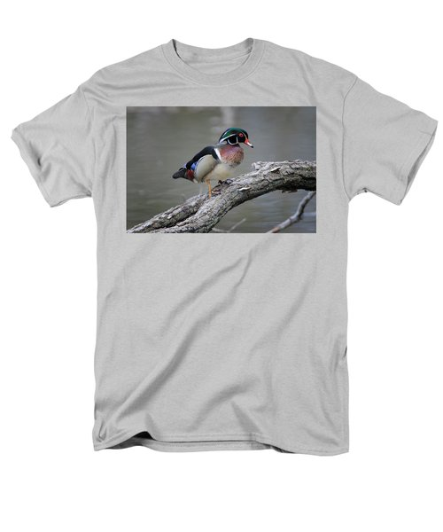 Wood Duck Drake Men's T-Shirt  (Regular Fit) by Gary Hall