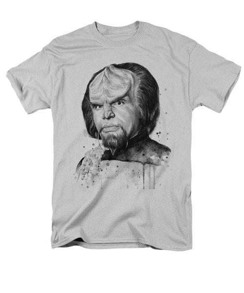 Worf Portrait Watercolor Star Trek Art Men's T-Shirt  (Regular Fit) by Olga Shvartsur