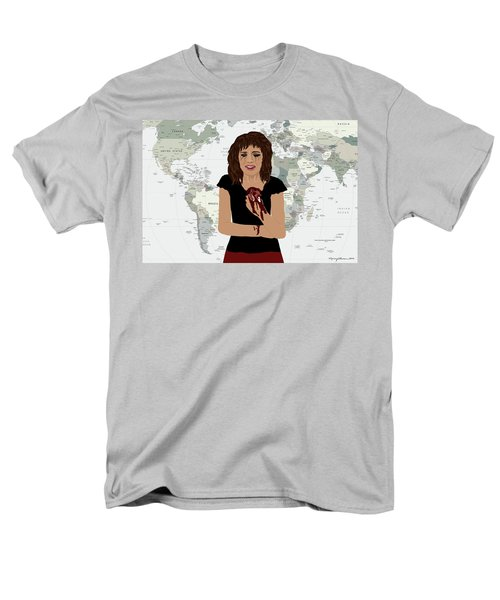 Men's T-Shirt  (Regular Fit) featuring the digital art World Pain by Nancy Levan