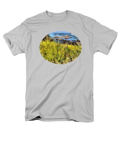 Yaquina Head Wildflowers Men's T-Shirt  (Regular Fit) by Thom Zehrfeld
