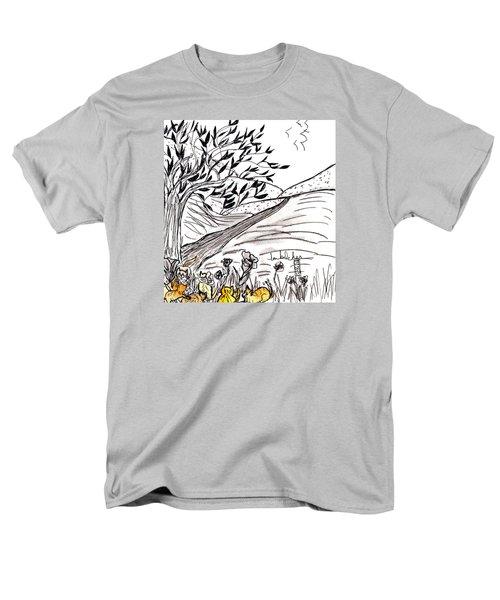 Yellow Cats Men's T-Shirt  (Regular Fit)