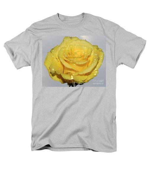 Men's T-Shirt  (Regular Fit) featuring the photograph Yellow Rose by Elvira Ladocki