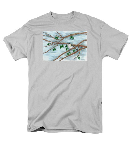 Yellow Rumped Warbler Men's T-Shirt  (Regular Fit) by Terri Mills