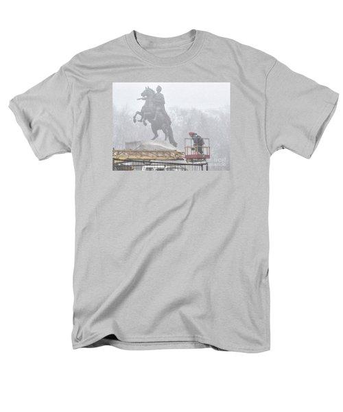 Yury Bashkin The Fog Street Peterburg Men's T-Shirt  (Regular Fit) by Yury Bashkin