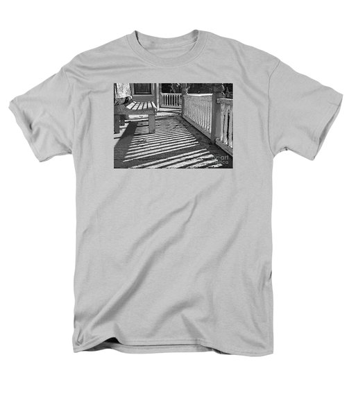 Men's T-Shirt  (Regular Fit) featuring the photograph Zebra Porch by Betsy Zimmerli