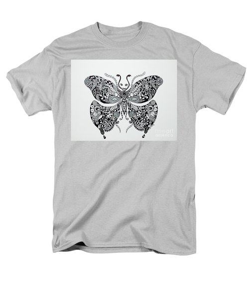 Men's T-Shirt  (Regular Fit) featuring the drawing Zen Butterfly by Tamyra Crossley