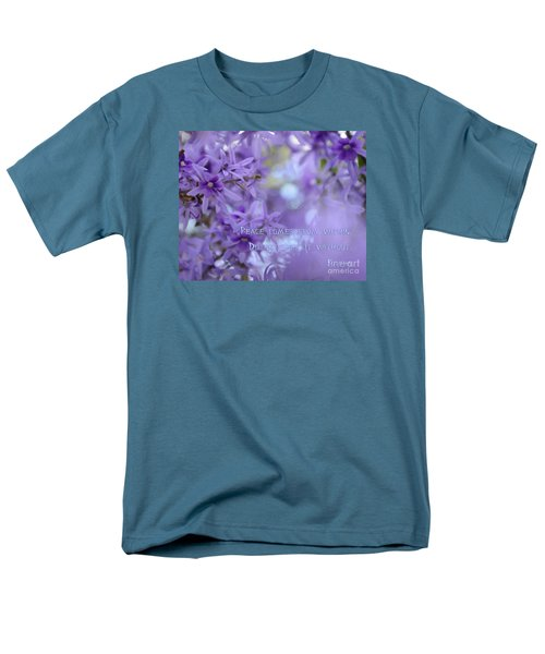 Peace Comes From Within Men's T-Shirt  (Regular Fit) by Olga Hamilton