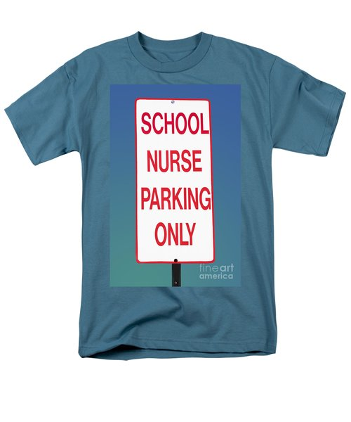 School Nurse Parking Sign  Men's T-Shirt  (Regular Fit) by Phil Cardamone