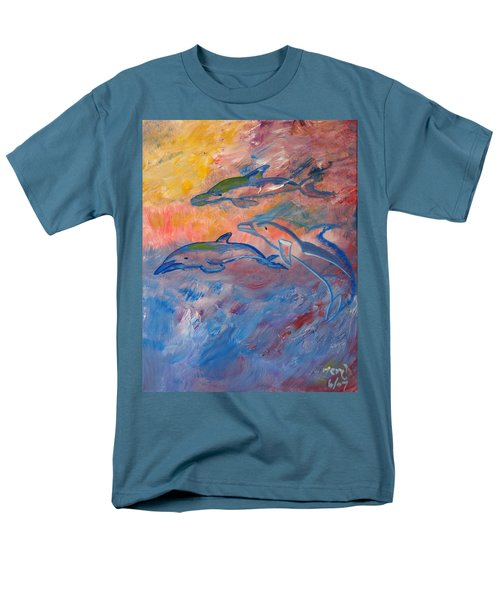 Soaring Dolphins Men's T-Shirt  (Regular Fit) by Meryl Goudey