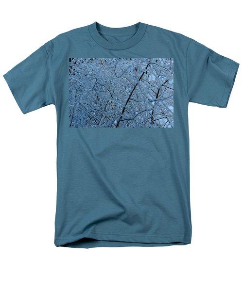 Vegetation After Ice Storm  Men's T-Shirt  (Regular Fit) by Daniel Reed