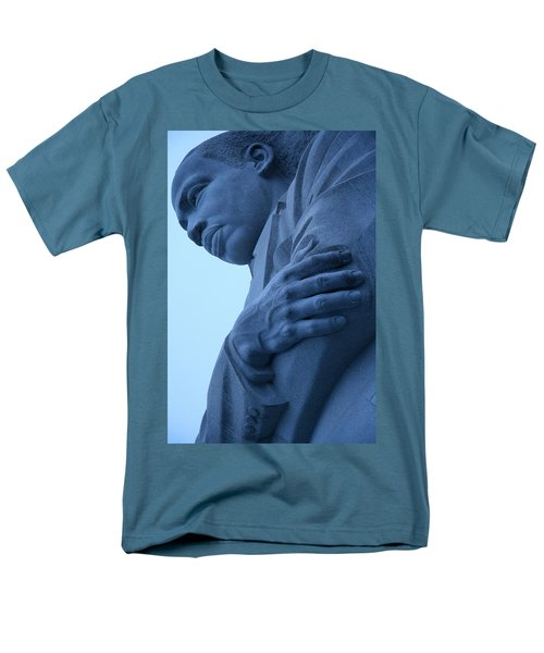 Men's T-Shirt  (Regular Fit) featuring the photograph A Blue Martin Luther King - 2 by Cora Wandel