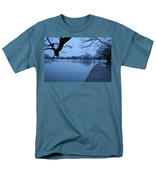 Men's T-Shirt  (Regular Fit) featuring the photograph A Blue Morning For Jefferson by Cora Wandel