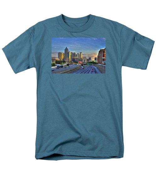 Atlanta Sunset Reflections Men's T-Shirt  (Regular Fit) by Reid Callaway