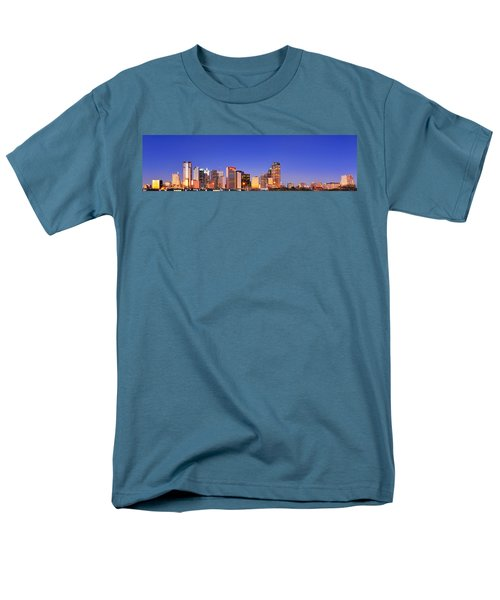 Dallas At Dawn Men's T-Shirt  (Regular Fit) by David Perry Lawrence