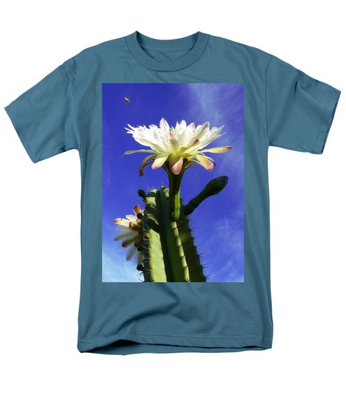 Men's T-Shirt  (Regular Fit) featuring the photograph Flowering Cactus 3 by Mariusz Kula