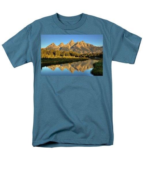 Men's T-Shirt  (Regular Fit) featuring the photograph Grand Teton by Alan Vance Ley