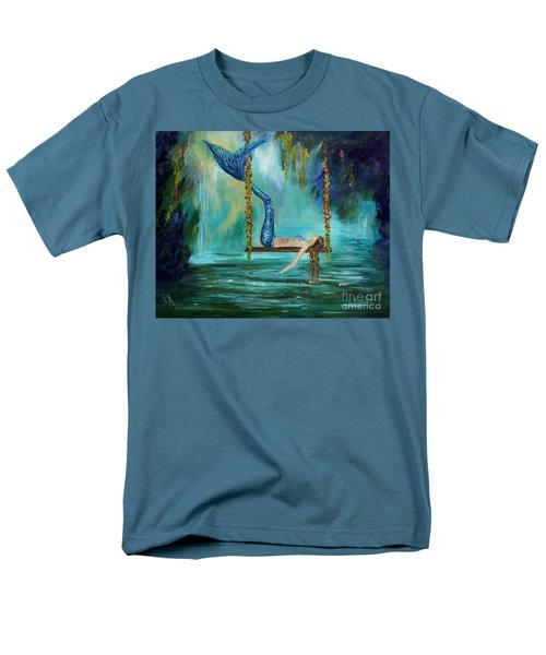 Mermaids Lazy Lagoon Men's T-Shirt  (Regular Fit) by Leslie Allen