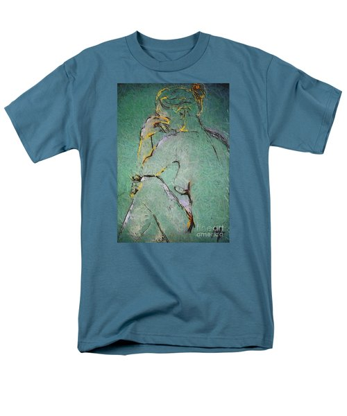 Men's T-Shirt  (Regular Fit) featuring the drawing Nude IIi  by Dragica  Micki Fortuna