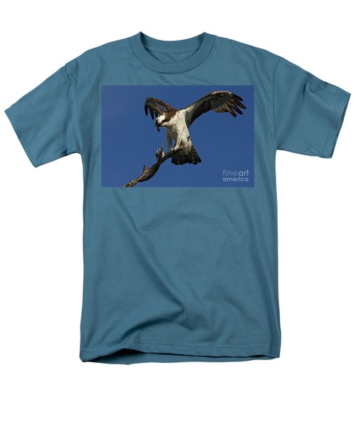 Men's T-Shirt  (Regular Fit) featuring the photograph Osprey With A Fish Photo by Meg Rousher