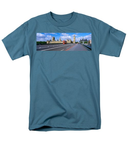 Parliament Big Ben London England Men's T-Shirt  (Regular Fit) by Panoramic Images