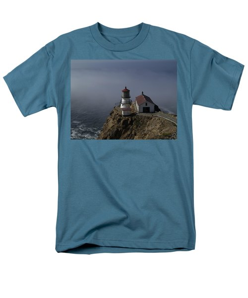 Pt Reyes Lighthouse Men's T-Shirt  (Regular Fit) by Bill Gallagher