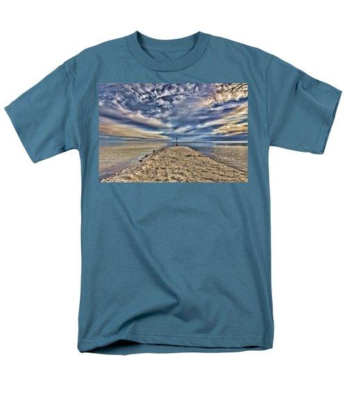 Salt Pier Salton Sea Men's T-Shirt  (Regular Fit) by Hugh Smith