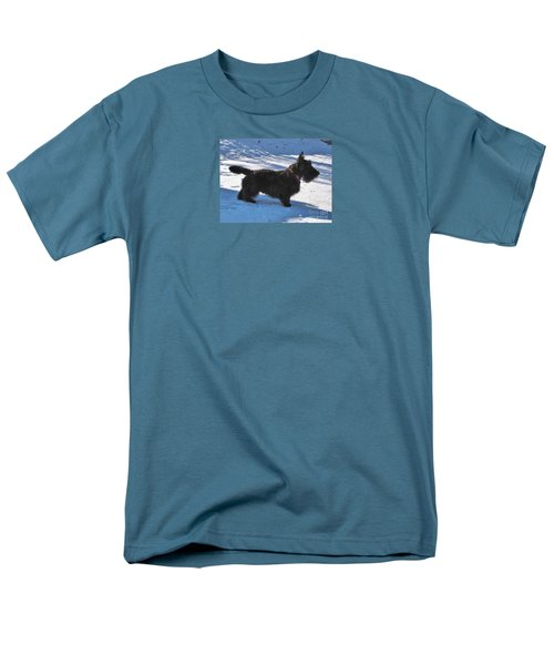 Men's T-Shirt  (Regular Fit) featuring the photograph Scottie Silhouette by Michele Penner