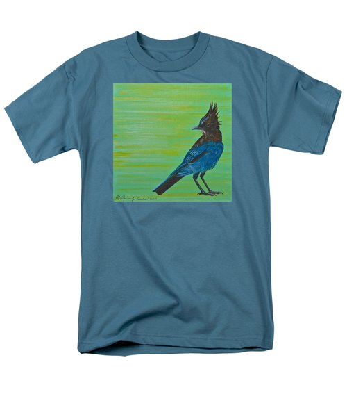 Stellar Jay Men's T-Shirt  (Regular Fit) by Jennifer Lake