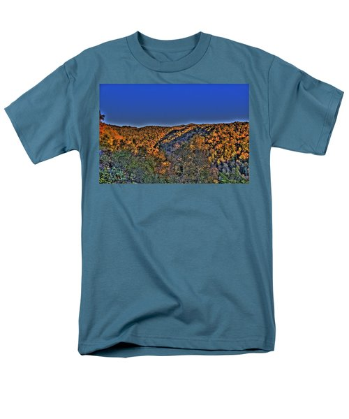 Men's T-Shirt  (Regular Fit) featuring the photograph Sun On The Hills by Jonny D