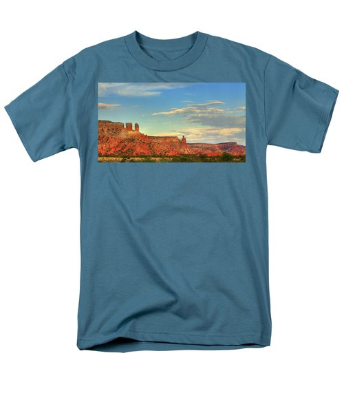 Men's T-Shirt  (Regular Fit) featuring the photograph Sunset At Ghost Ranch by Alan Vance Ley