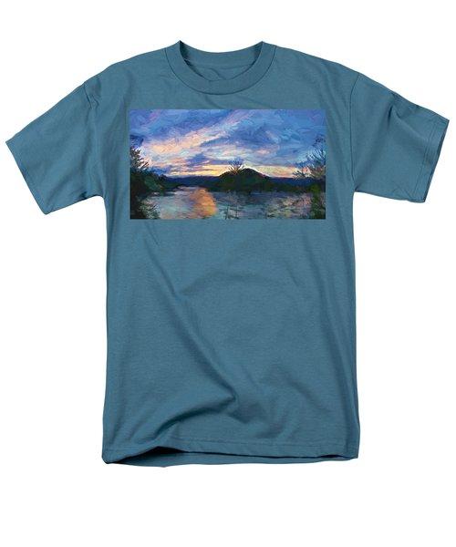 Sunset Pano - Watauga Lake Men's T-Shirt  (Regular Fit) by Tom Culver