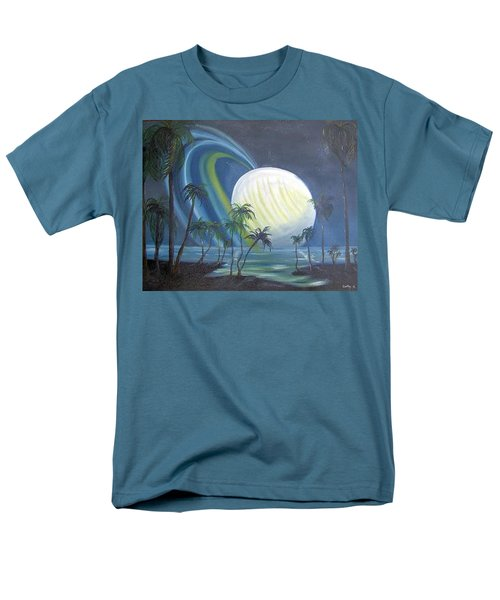 Tropical Moon Men's T-Shirt  (Regular Fit) by Catherine Swerediuk