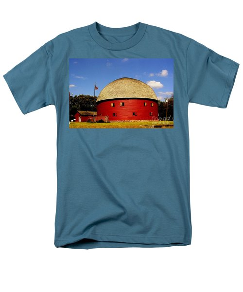 Men's T-Shirt  (Regular Fit) featuring the photograph 100 Year Old Round Red Barn  by Janette Boyd