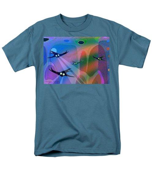 1044 - Inside A Tropical Ocean   Men's T-Shirt  (Regular Fit) by Irmgard Schoendorf Welch