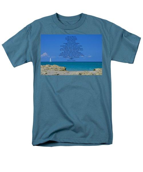 186- Mark Twain Men's T-Shirt  (Regular Fit) by Joseph Keane
